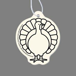 Paper Air Freshener - Turkey Tag W/ Tab (Face Front)
