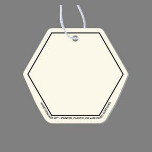 Paper Air Freshener Tag - Hexagon Tag