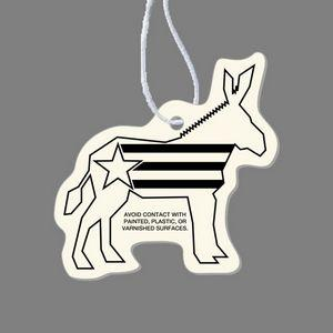 Paper Air Freshener - Election Donkey Tag