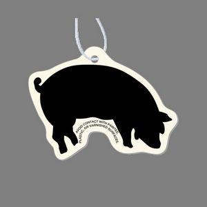 Paper Air Freshener - Eating Pig Silhouette Tag W/ Tab
