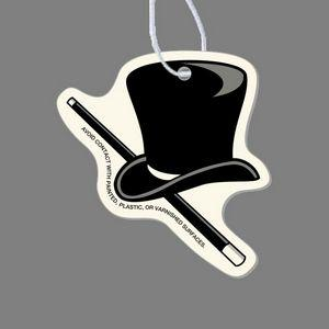 Paper Air Freshener Tag - Top Hat & Cane