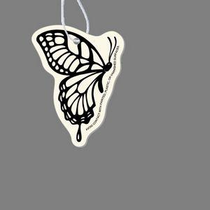 Paper Air Freshener Tag - Monarch Butterfly (Wings Closed)