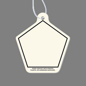 Paper Air Freshener Tag - Pentagon Shaped Tag W/ Tab