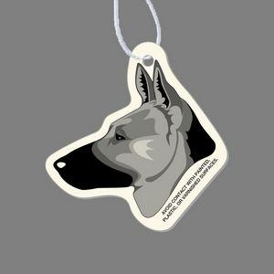 Paper Air Freshener Tag W/ Tab - German Shepherd's Head