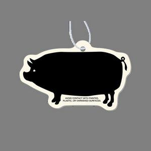Paper Air Freshener - Standing Pig Silhouette Tag W/ Tab