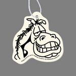 Personalized Paper Air Freshener - Horse Face Smiling Tag W/ Tab (Cartoon)