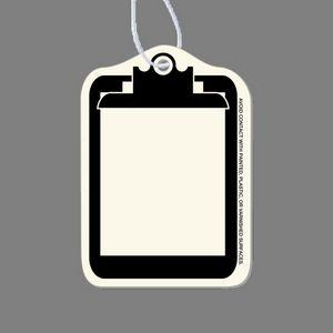 Paper Air Freshener Tag - Clipboard