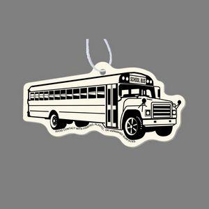 Paper Air Freshener Tag W/ Tab - School Bus