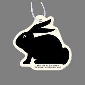 Paper Air Freshener - Sitting Rabbit Silhouette Tag (Left Side View)