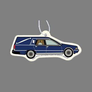 Paper Air Freshener - Colorized Cadillac Hearse Tag W/ Tab