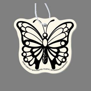 Paper Air Freshener Tag W/ Tab - Monarch (Wings Open)