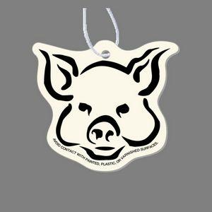 Paper Air Freshener - Pig's Face Tag W/ Tab