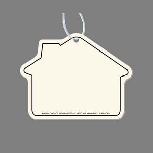 Paper Air Freshener Tag - House