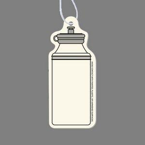 Paper Air Freshener Tag W/ Tab- Water Bottle