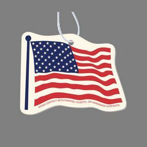 Paper Air Freshener Tag - U. S. Flag