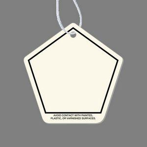 Paper Air Freshener Tag - Pentagon Shaped Tag