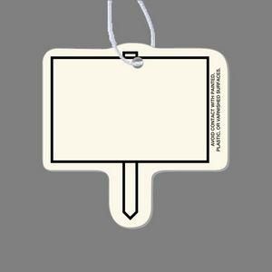 Paper Air Freshener Tag - Election Sign