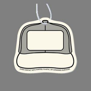Paper Air Freshener Tag - Baseball Hat (Front)