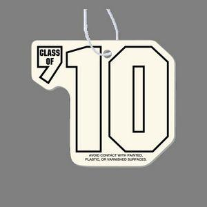 Paper Air Freshener Tag W/ Tab - Class Of '10