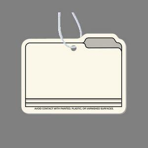 Paper Air Freshener Tag - File Folder