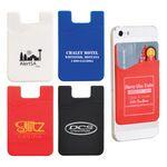 Custom Imprinted Slim Silicone Smartphone Mobile Wallet