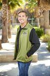 Full Zip, Fleece Vest Custom Printed