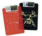 Customized Letter Size Clipboard w/Dual Power Calculator Clip