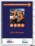 "8 1/2"" X 11"" Academic Monthly Planner w/2 Piece Full Color Cover Custom Printed"