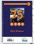 "Custom Printed 3 1/4"" X 6 1/4"" Monthly Planner - One Piece Stitched Cover"