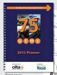 "Custom Printed 7"" X 10"" Academic Monthly Planner with 1 Piece Stitched Full Color Cover"
