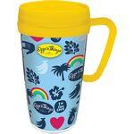 Custom Imprinted 16 Oz. Double Wall Insulated Thermal Travel Mug - White Printed Insert