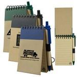 Recycled Jotter Notepad Notebook w/ Matching Color Recycled Paper Pen Custom Printed