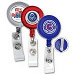"Custom Imprinted 30"" Cord Round Retractable Badge Reel & Badge Holder (Spot Color Direct)"