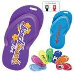 Stock Shape Sandal Luggage Bag Tag Custom Imprinted