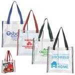 Logo Branded Clear Vinyl Stadium Compliant Tote Bag