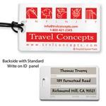 Recycled Write-on Surface Luggage Bag Tag w/ Strap Custom Imprinted