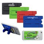 'Kickstart' Two Function Soft Silicone Cell Phone Kickstand & Wallet
