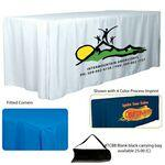 Logo Branded 6' 4-Sided Fitted Style Table Cloth & Covers (4 Color Process)