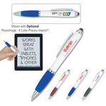 "Logo Branded ""The Guru"" White Body Stylus Pen"