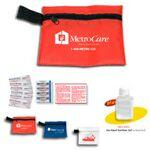 Custom Branded 9 Piece Hand Sanitizer First Aid Kit in Zipper Pouch