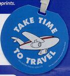 Custom Printed Recycled Jumbo Round Slip-in Pocket Luggage Bag Tag (Spot Color)