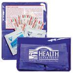 Logo Printed 7 Piece Economy First Aid Kit in Colorful Vinyl Pouch