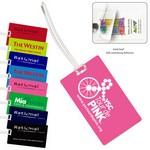 Logo Branded Recycled Neon & Stock Color Background Kwik-Seal® Luggage Bag Tag