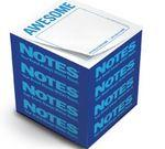 "Custom Printed Knock Knock® Stik-Withit® Full Size Note Cube® Notepads (3 3/8""x3 3/8""x3 3/8"")"