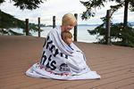 Oversized Sweatshirt Blanket - Gray (Laser Patch) Custom Embroidered