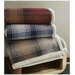 Cottage Plaid Throw (Laser Patch) Custom Imprinted