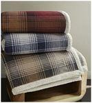 Cottage Plaid Throw (Laser Patch) Custom Printed