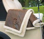 Faux Leather Throw (Embroidery) Logo Branded