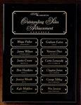 "Black Piano Finish Perpetual Plaque 9"" x 12"" Engraved"