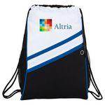 Daunting Double Zipper Drawstring Sportspack Custom Printed